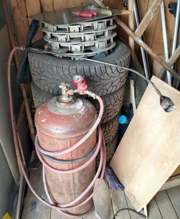 Газовый баллон 50л. с редуктором и горелкой