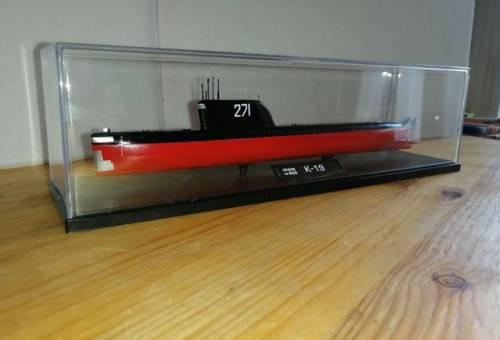 Модель подводной лодки К-19 в масштабе 1:350
