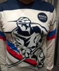 Майка женская на бретелях, лонгслив футболка Россия хоккей, Советский