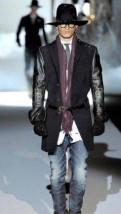 Пальто сюртук Dsquared2 размер 50, мужские брюки для похудения