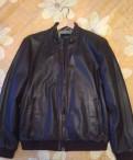 Купить мужское кожаное зимнее пальто с мехом, кожаная куртка