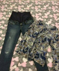 Джинсы HM и рубашка для беременных, купить зимние спортивные штаны nike, Виллози