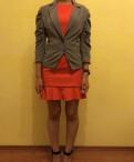 Платье до колен трапеция, жакет Kira Plastinina