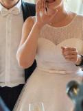 Свадебное платье капучино-пудра, фасоны платьев из шифона с открытой спиной