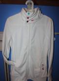 Фирменная кофта Oneil белоснежная флис мало бу, модные платья шифон