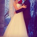 Платье с рукавом с разрезом, свадебное платье
