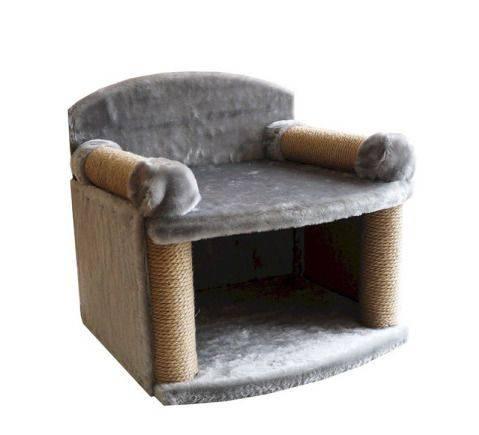 Zooexpress комплекс трон 4 когтеточки мех (кресло)