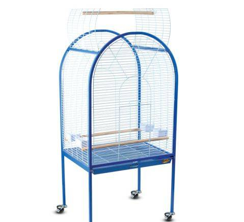 BC02 Клетка для птиц, бело-синяя 78*60*156см Триол