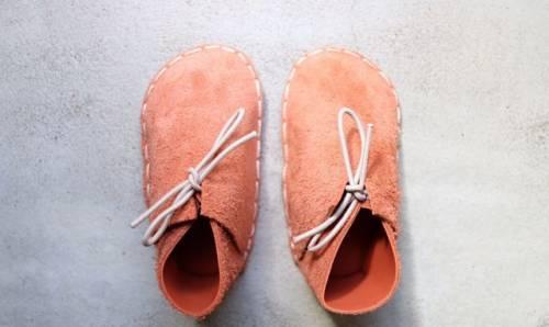 Пинетки/мокасины/обувь детская из кожи «Морковь»