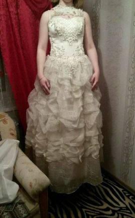 Свадебное платье новое, вечерние платья длинные с рукавом