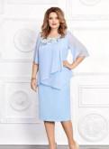 Платье нарядное голубой цвет 58, 60 размер, пуховик баон бежевый женский, Кипень