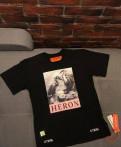 Купить мужскую футболку с символикой, heron Preston футболка