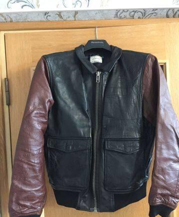Костюм мужской bremer кларенс, кожаная куртка Wood Wood