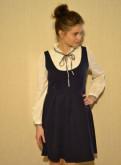 Платье сине-белое (офисное), tommy hilfiger зима обувь