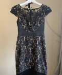 Шуба из чернобурки на трикотажной основе купить, платье кружевное чёрное