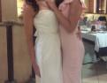 Платье свадебное, платье свадебное со шлейфом розово бежевое ибей