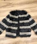 Шуба quess 44-46, куртка с подкладкой из натурального меха