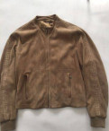 Мужской свитер на молнии из шерсти, замшевая куртка Versace. Версаче, Агалатово
