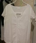 Белая рубашка блузка, шапка женская ea7