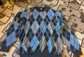 Мужской свитер меринос, джемпер почти новый хl