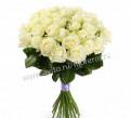 Цветы Розы белые 25 шт Эквадор Мондиаль