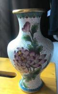 Ваза для цветов Клуазоне, Китай, 20 см. , 1950-е гг