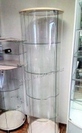Витрина круглая с светильником 1800x520 мм