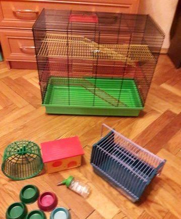 Клетка для грызунов+переноска